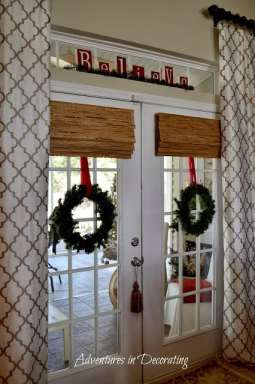 Christmas french doors